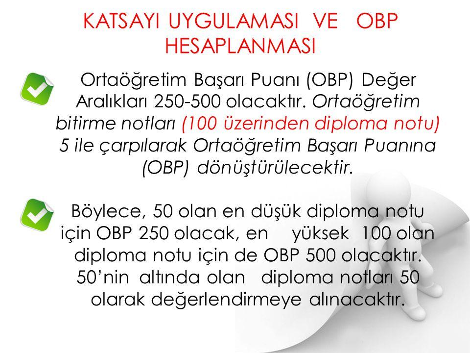 Not: YGS'de 180 Puan barajını geçen her aday alanının dışındaki sınavlara da başvurabilir. 26