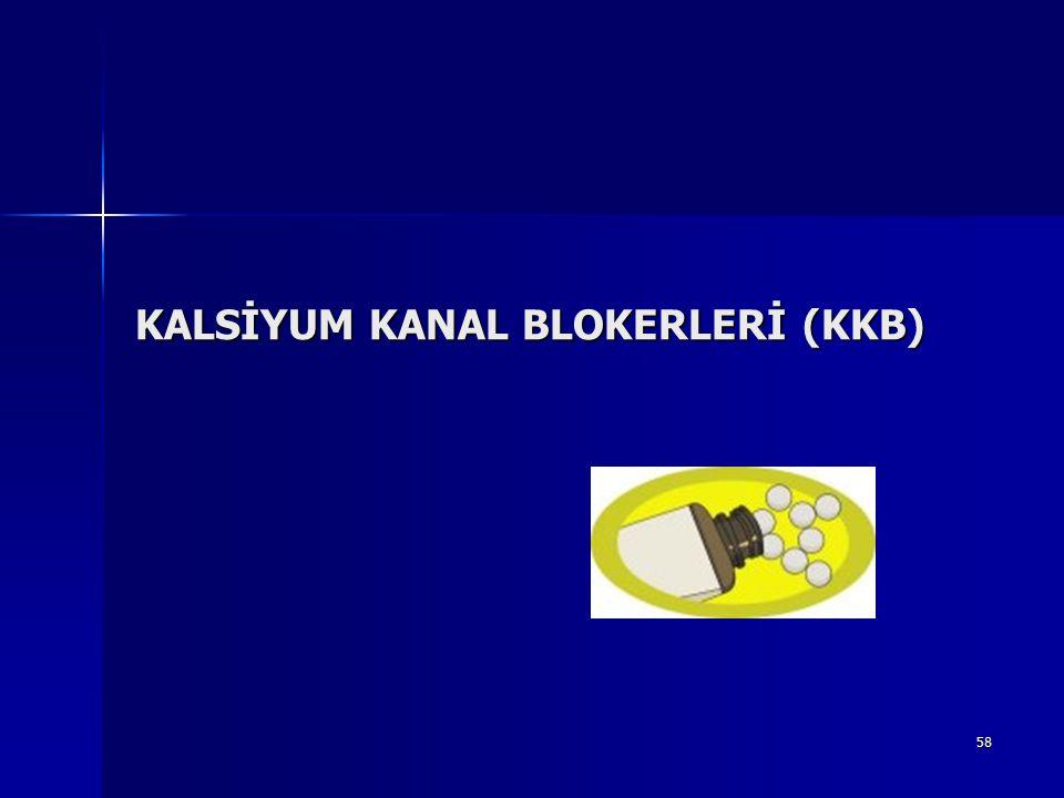 58 KALSİYUM KANAL BLOKERLERİ (KKB)