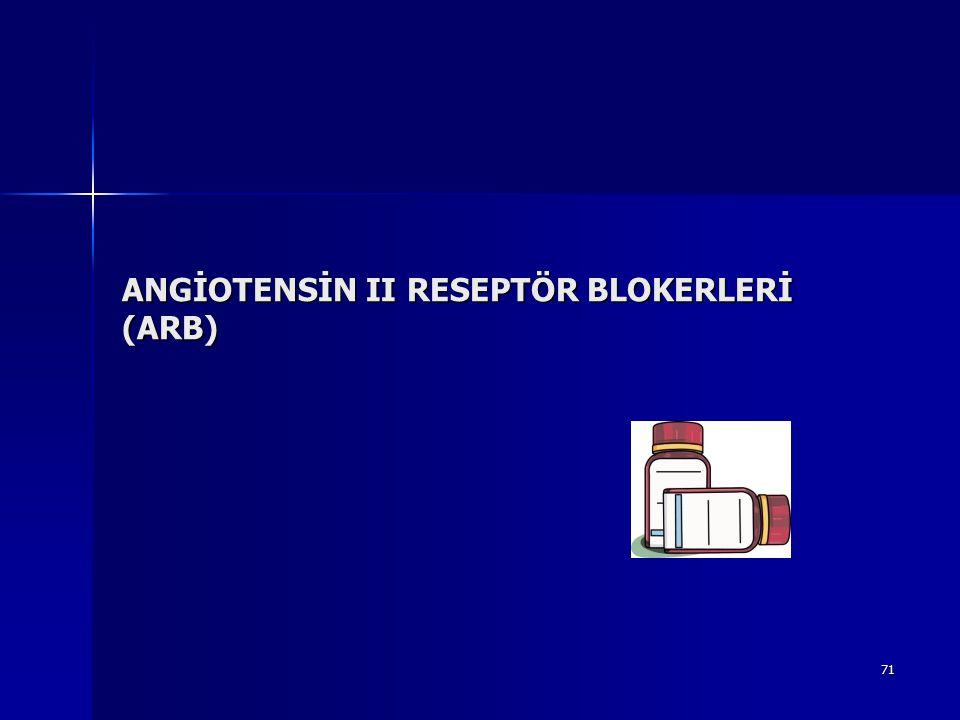 71 ANGİOTENSİN II RESEPTÖR BLOKERLERİ (ARB)