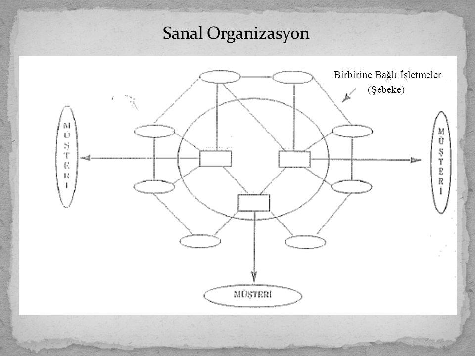 Sanal Organizasyon Birbirine Bağlı İşletmeler (Şebeke)