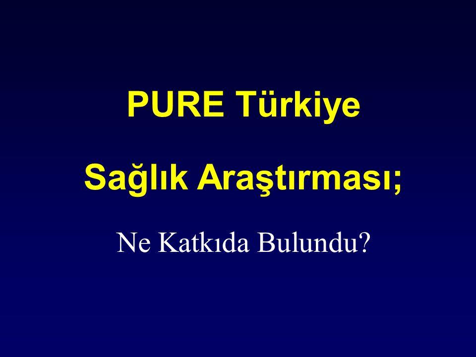 PURE Türkiye Sağlık Araştırması; Ne Katkıda Bulundu?