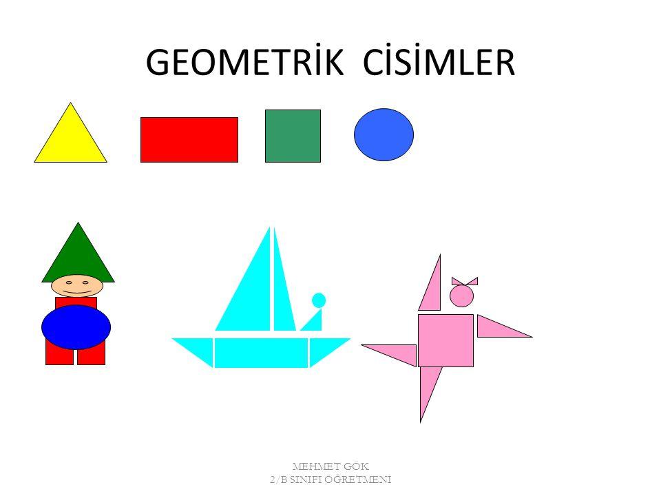 GEOMETRİK CİSİMLER MEHMET GÖK 2/B SINIFI ÖĞRETMENİ