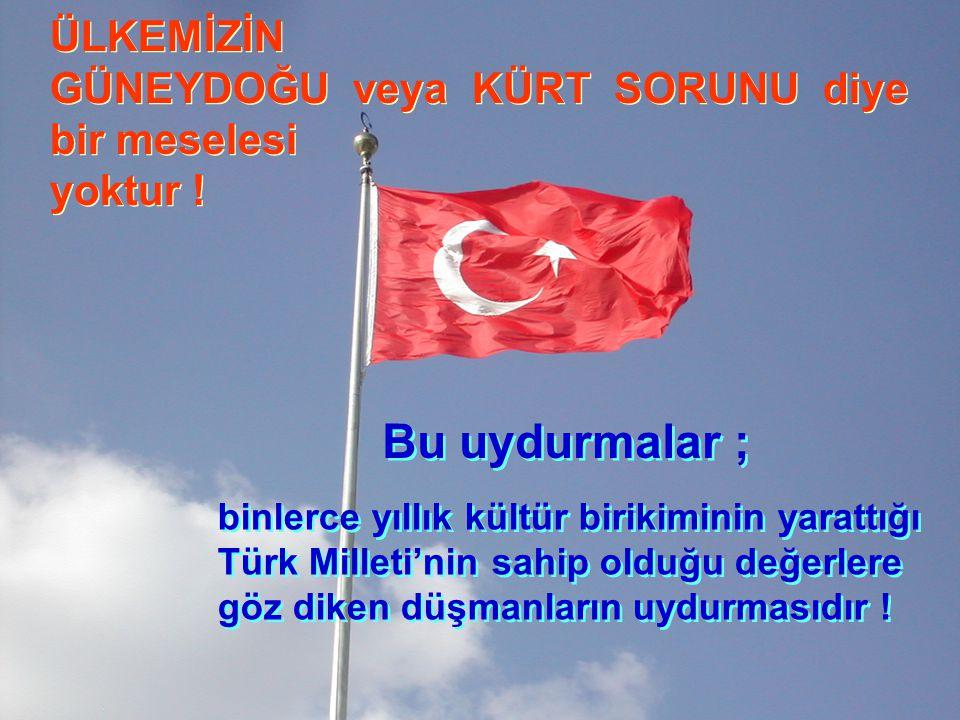 Türk Milleti, bir alaşımdır… Karışımı teşkil eden nesneler birbirinden ayrılabilirler..