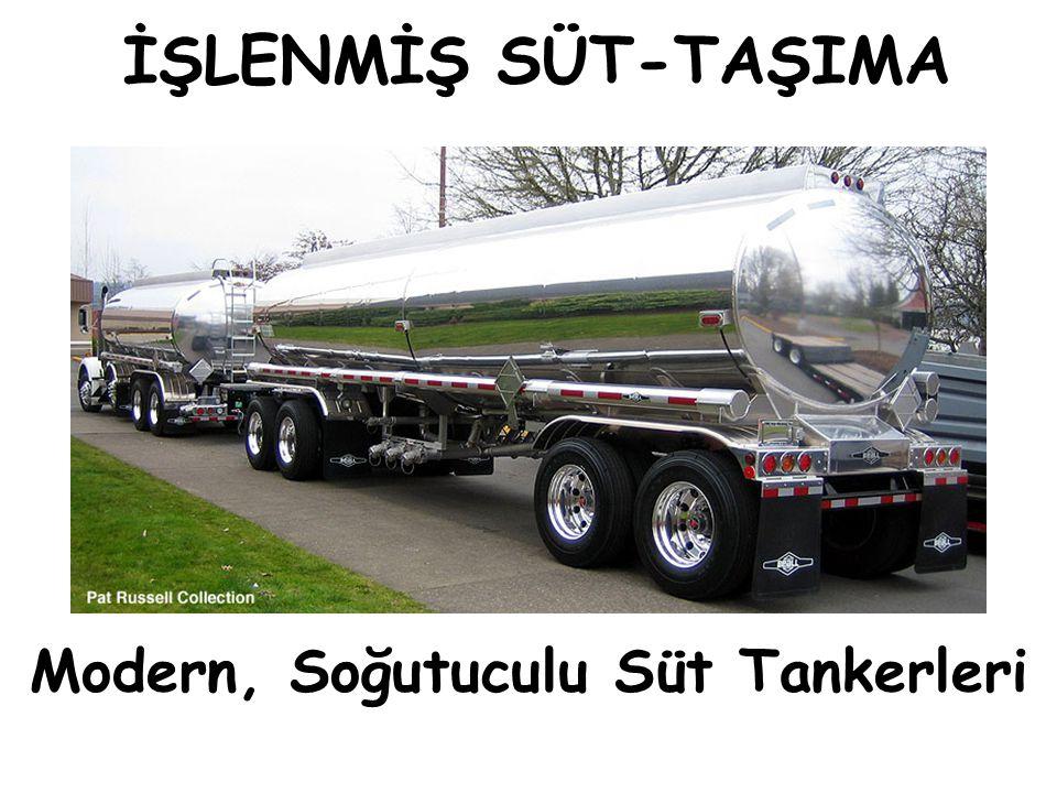 İŞLENMİŞ SÜT-TAŞIMA Modern, Soğutuculu Süt Tankerleri