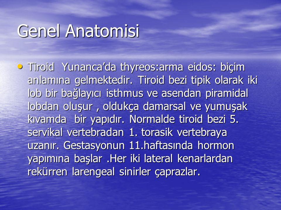 Genel Anatomisi Tiroid Yunanca'da thyreos:arma eidos: biçim anlamına gelmektedir.