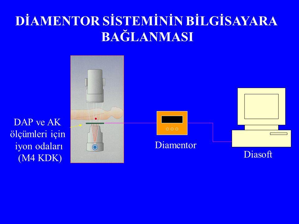 DAP ve AK ölçümleri için iyon odaları (M4 KDK) Diamentor Diasoft DİAMENTOR SİSTEMİNİN BİLGİSAYARA BAĞLANMASI