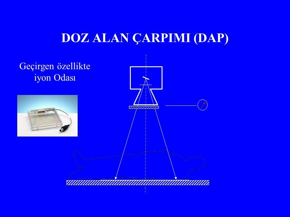 DOZ ALAN ÇARPIMI (DAP) Geçirgen özellikte iyon Odası