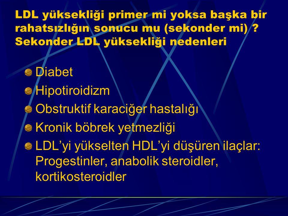 LDL yüksekliği primer mi yoksa başka bir rahatsızlığın sonucu mu (sekonder mi) .