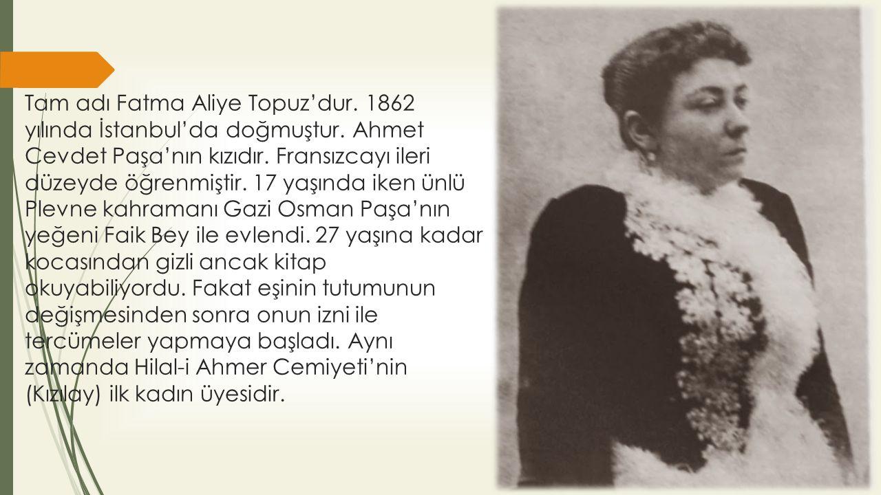 Literatürlerde ilk Türk Kadın Romancının Fatma Aliye Hanım olduğu kabul edilir.