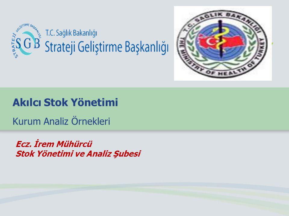 Ecz. İrem Mühürcü Stok Yönetimi ve Analiz Şubesi Akılcı Stok Yönetimi Kurum Analiz Örnekleri