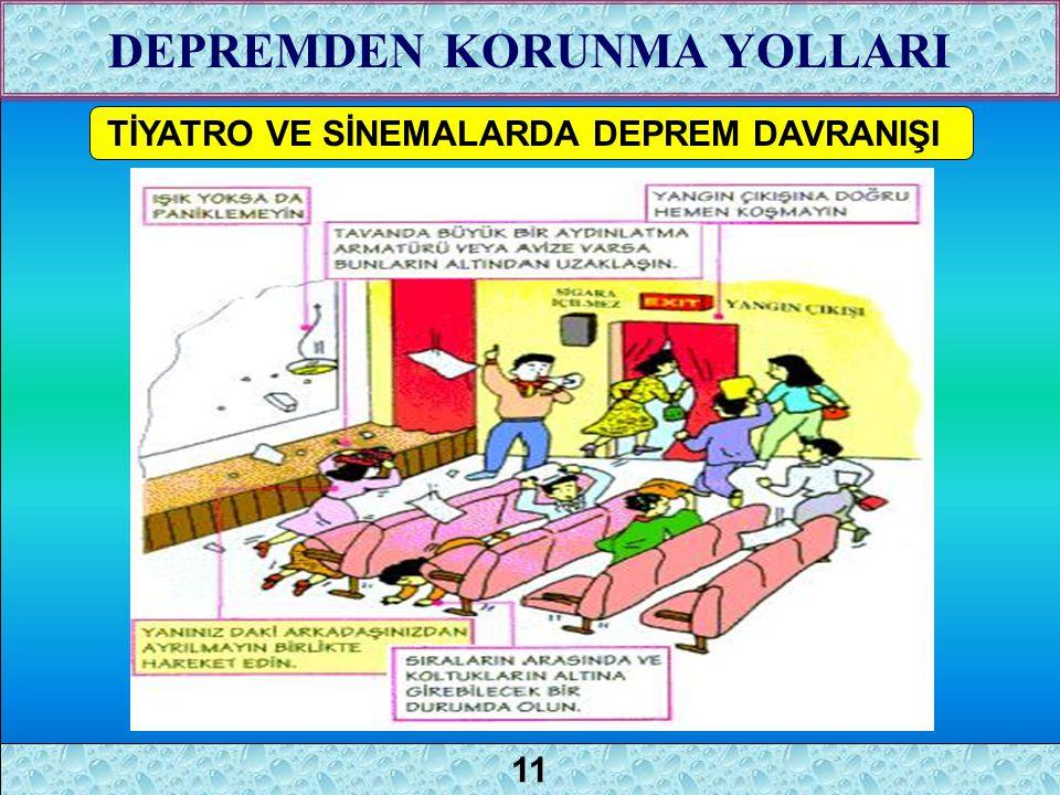 1 TİYATRO VE SİNEMALARDA DEPREM DAVRANIŞI DEPREMDEN KORUNMA YOLLARI 11