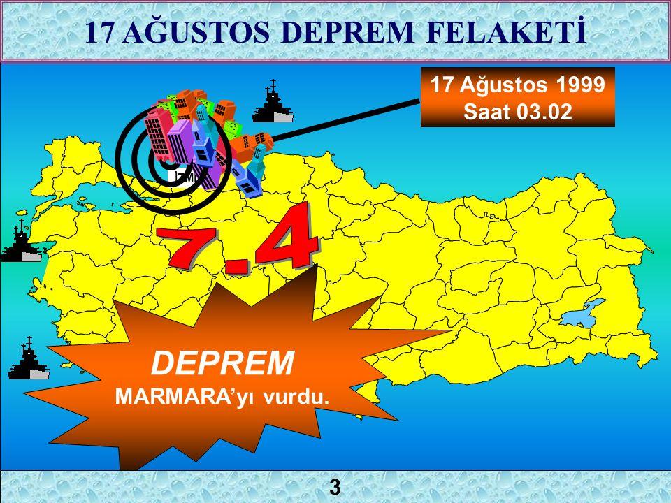 2 17 Ağustos 1999 Saat 03.02 İZMİT DEPREM MARMARA'yı vurdu. 17 AĞUSTOS DEPREM FELAKETİ 3