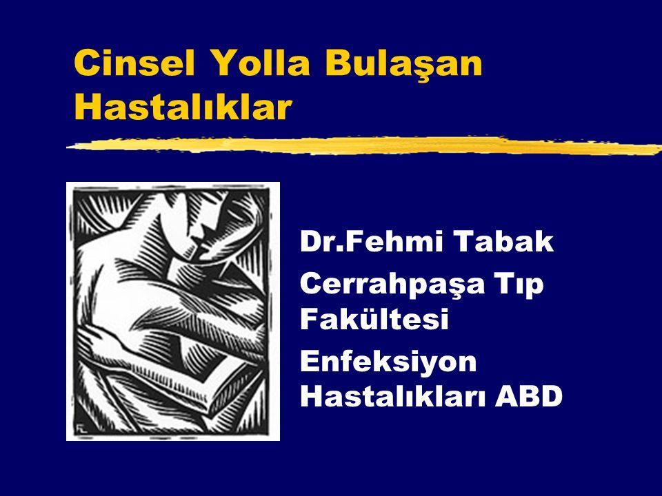 Cinsel Yolla Bulaşan Hastalıklar Dr.Fehmi Tabak Cerrahpaşa Tıp Fakültesi Enfeksiyon Hastalıkları ABD