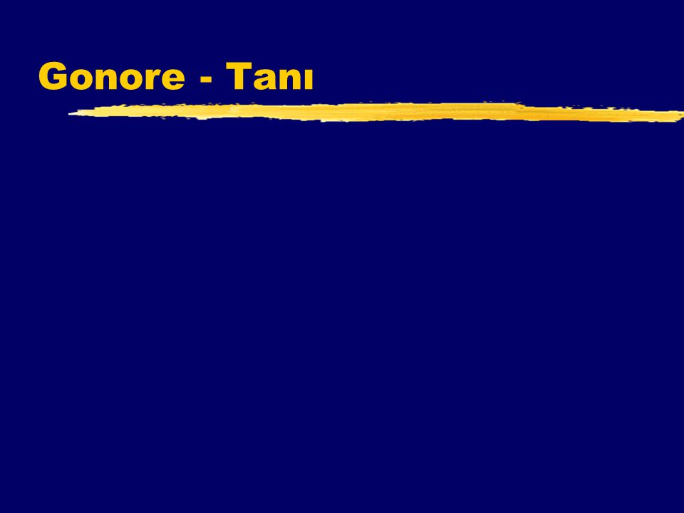 Gonore - Tanı