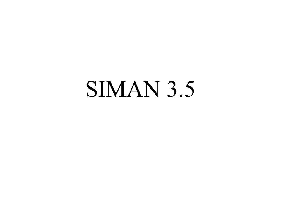 SIMAN'da kullanılan dağılımlar ve parametreleri aşağıdaki tabloda verilmiştir.