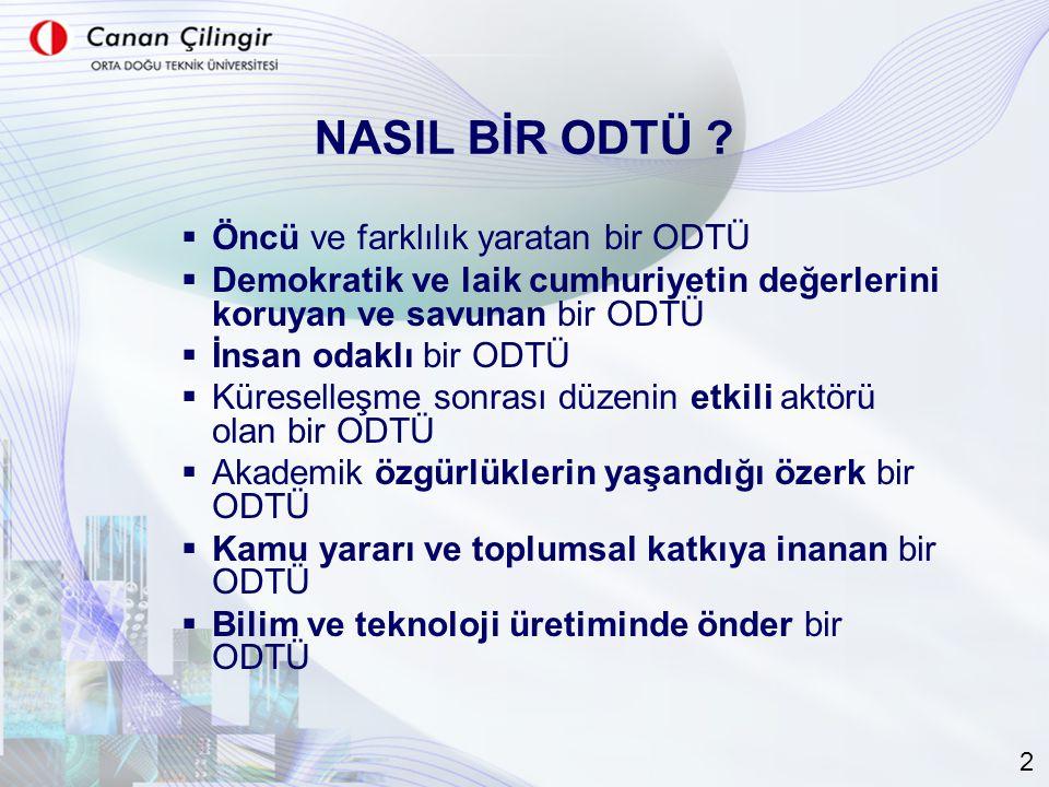 NASIL BİR ODTÜ .