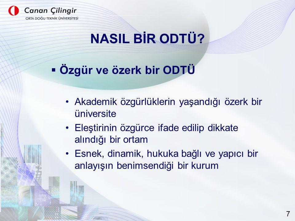 NASIL BİR ODTÜ.