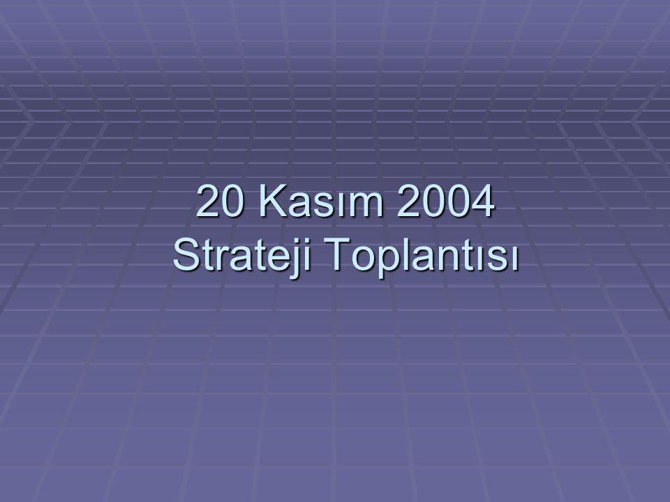 20 Kasım 2004 Strateji Toplantısı