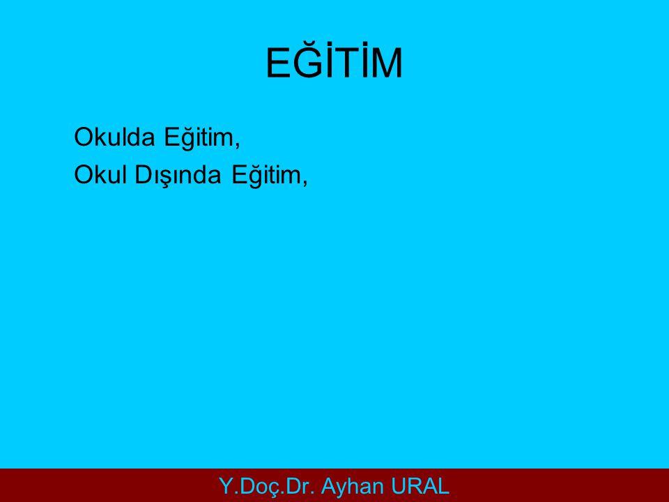 EĞİTİM Okulda Eğitim, Okul Dışında Eğitim, Y.Doç.Dr. Ayhan URAL