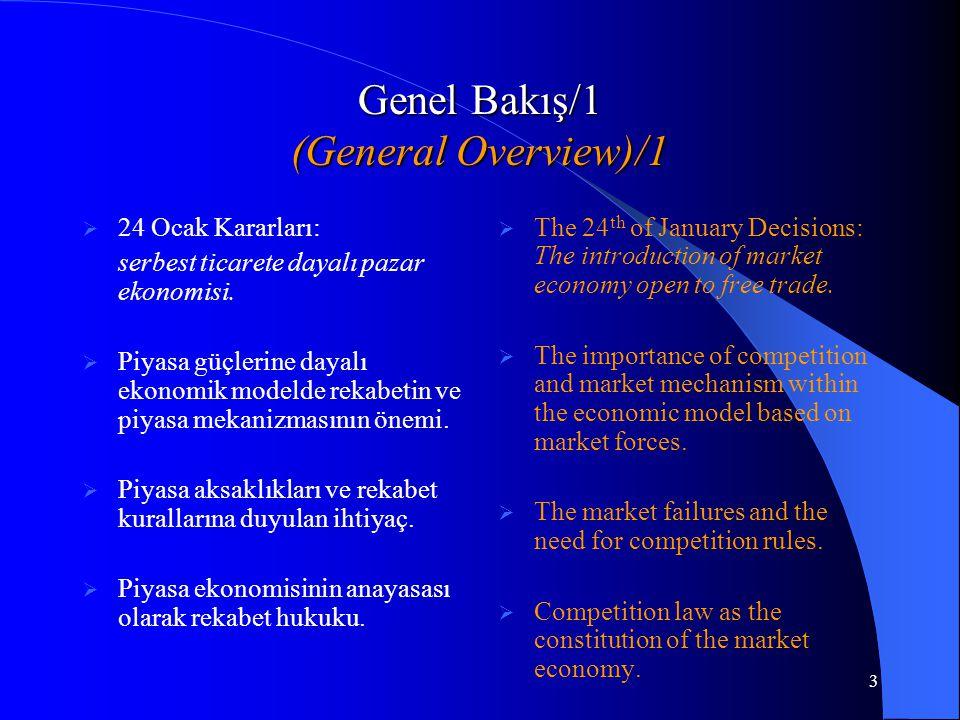 3 Genel Bakış/1 (General Overview)/1  24 Ocak Kararları: serbest ticarete dayalı pazar ekonomisi.