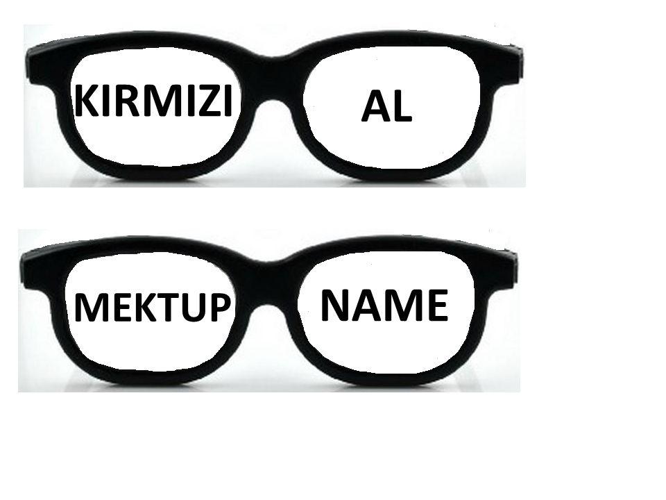 KIRMIZI AL MEKTUP NAME