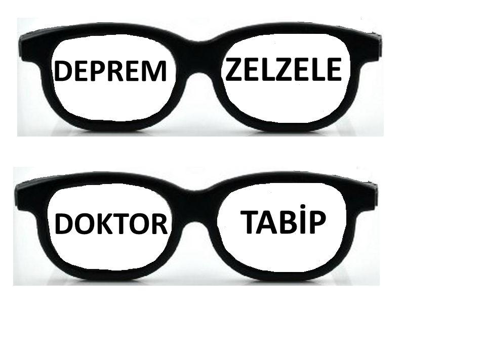 DEPREM ZELZELE DOKTOR TABİP