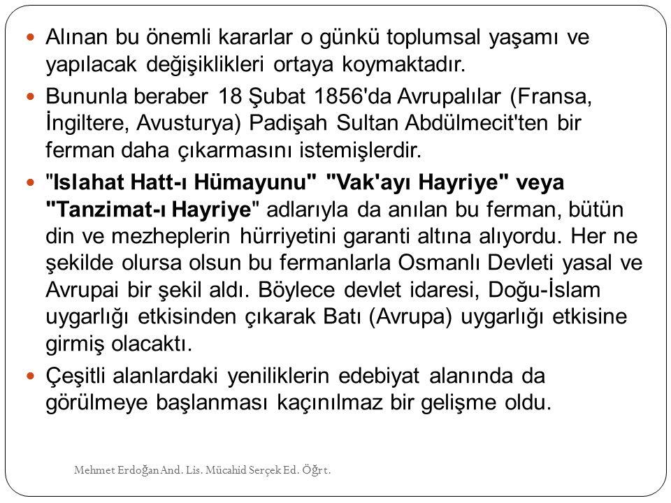 ŞEMSETTİN SAMİ (1850 - 1904) Mehmet Erdo ğ an And.