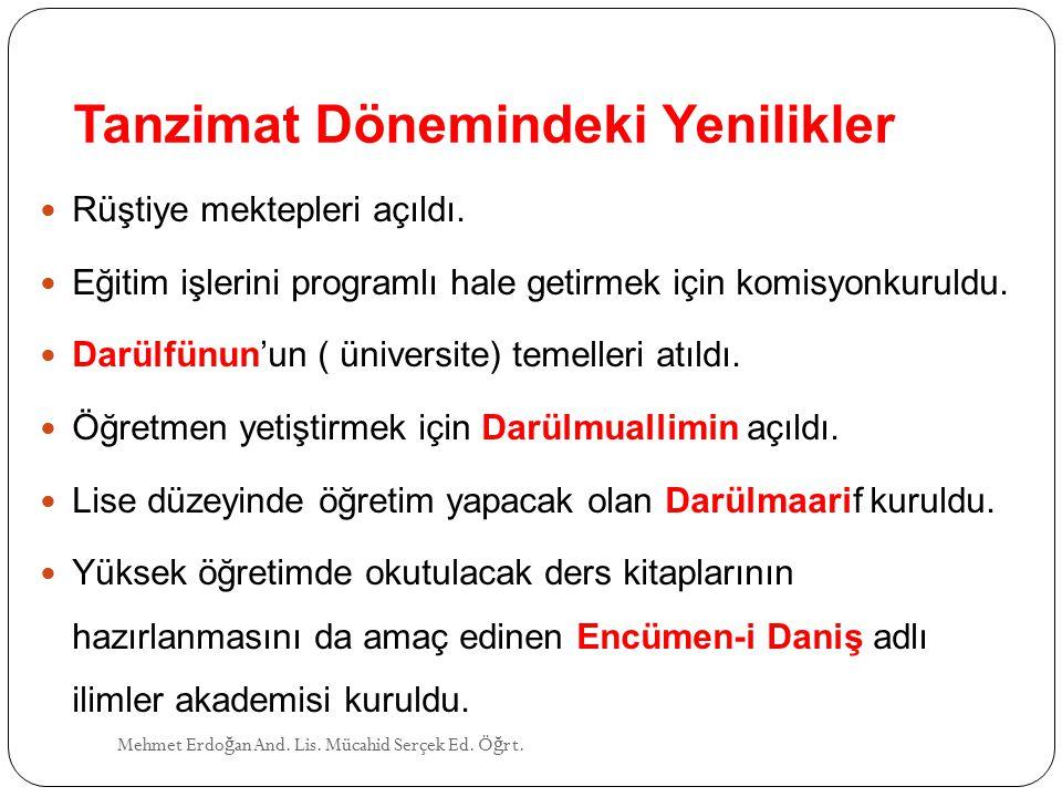 RECAİZADE MAHMUD EKREM (1847 - 1914) Mehmet Erdo ğ an And.