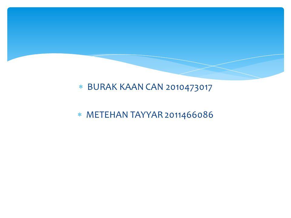  BURAK KAAN CAN2010473017  METEHAN TAYYAR2011466086