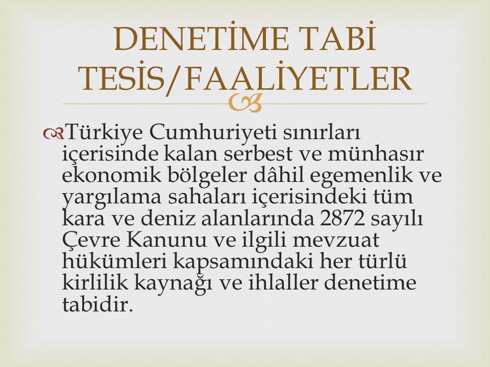   Türkiye Cumhuriyeti sınırları içerisinde kalan serbest ve münhasır ekonomik bölgeler dâhil egemenlik ve yargılama sahaları içerisindeki tüm kara v