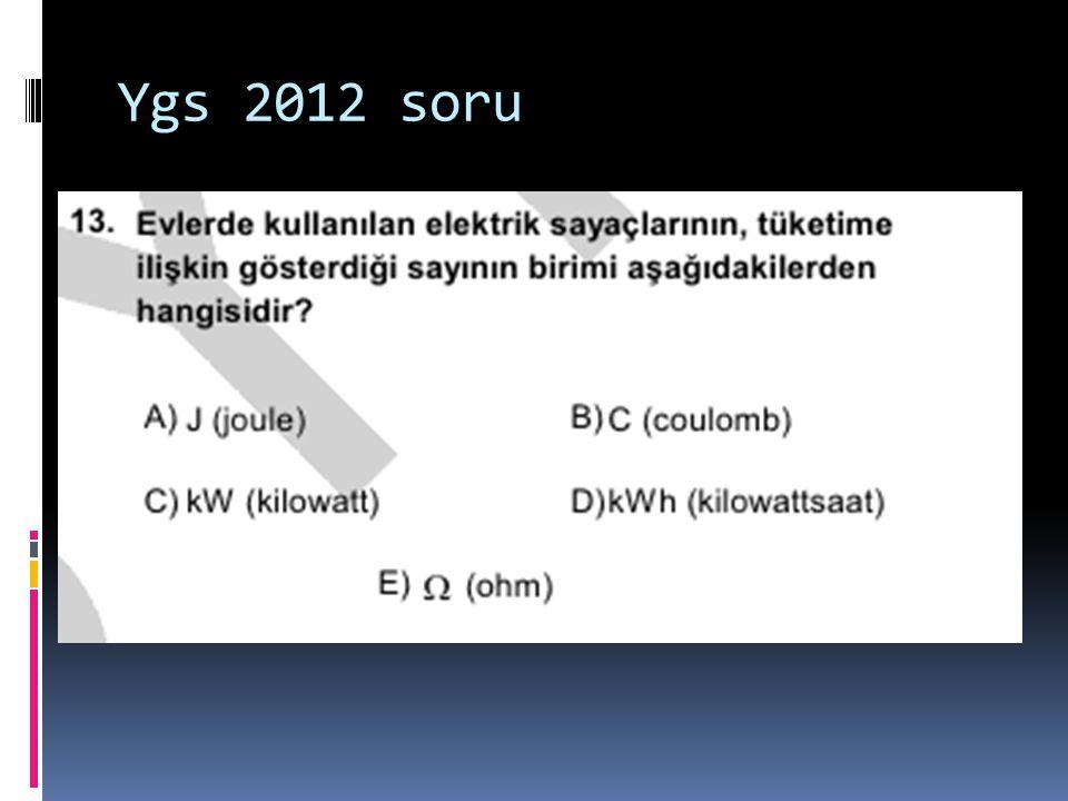 Ygs 2012 soru