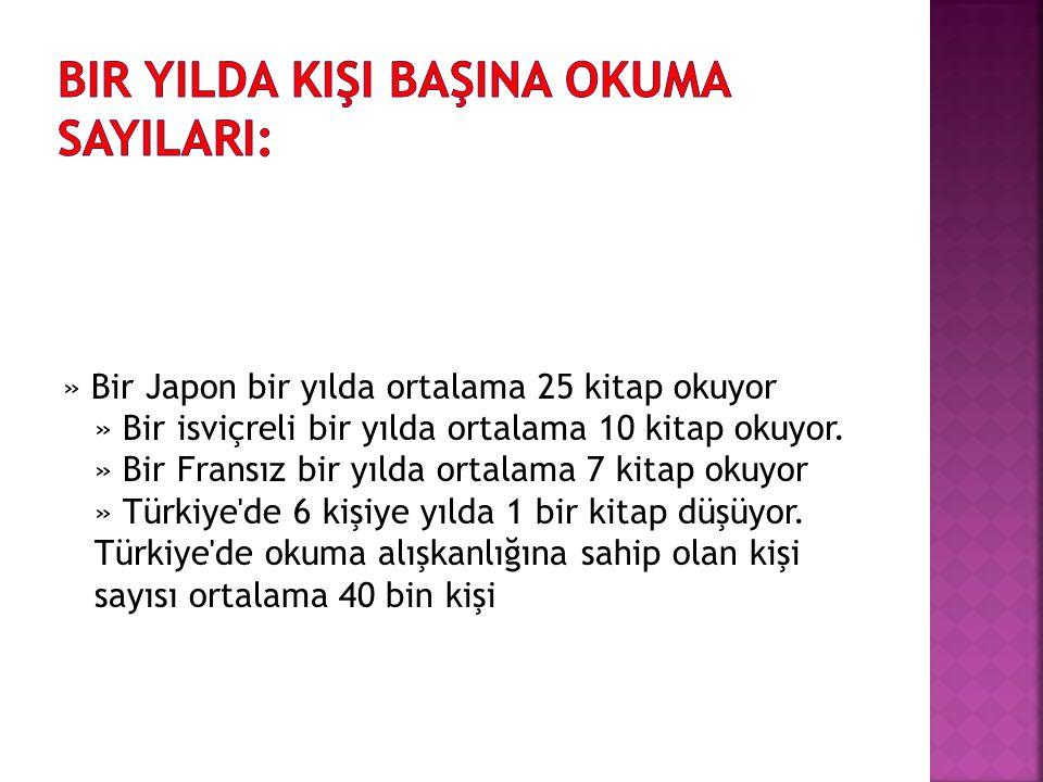  KiTAP OKUMAK iÇiN Türkiye de bir kisinin ayırdığı zamanın; » 300 katını bir Norveçli ayırıyor.