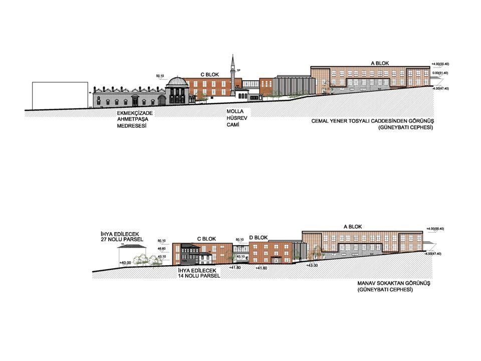A BLOK EĞİTİM BİNASI Oturum Alanı=1288 m² İnşaat Alanı= 3575 m²