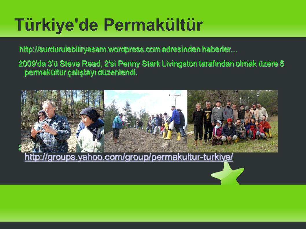 Türkiye'de Permakültür http://surdurulebiliryasam.wordpress.com adresinden haberler... http://surdurulebiliryasam.wordpress.com adresinden haberler...