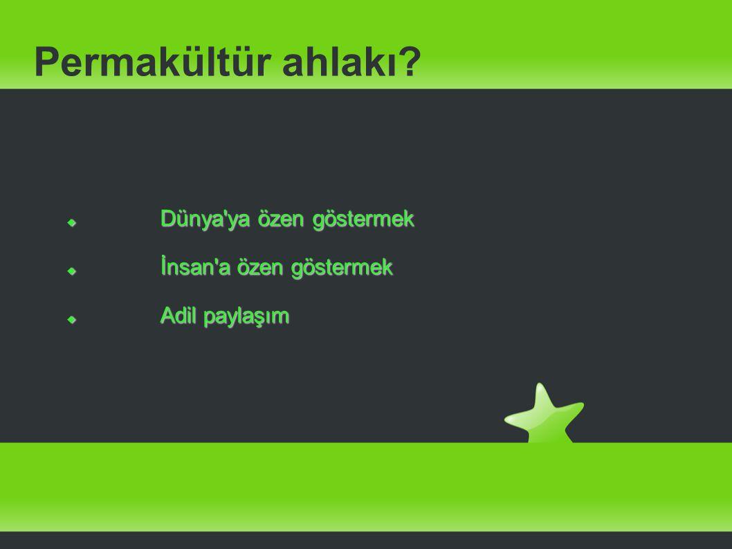 Türkiye de Permakültür http://surdurulebiliryasam.wordpress.com adresinden haberler...