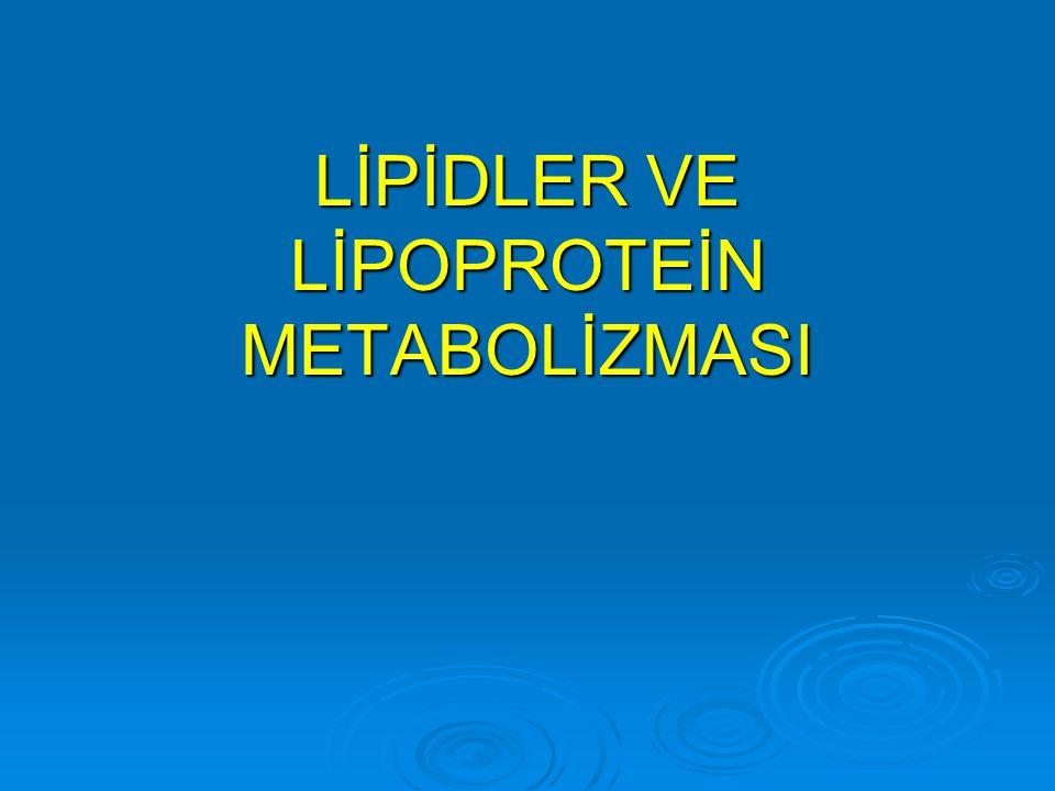 Apolipoproteins  Apolipoproteinler lipoproteinlerin protein komponetleridir.
