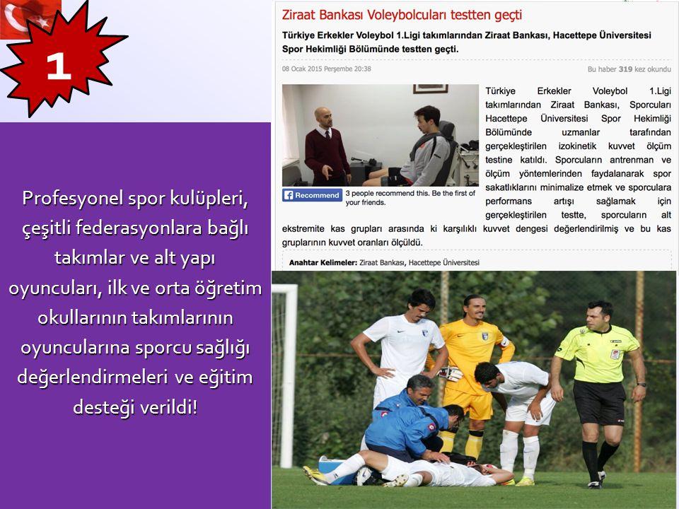 1 Profesyonel spor kulüpleri, çeşitli federasyonlara bağlı takımlar ve alt yapı oyuncuları, ilk ve orta öğretim okullarının takımlarının oyuncularına