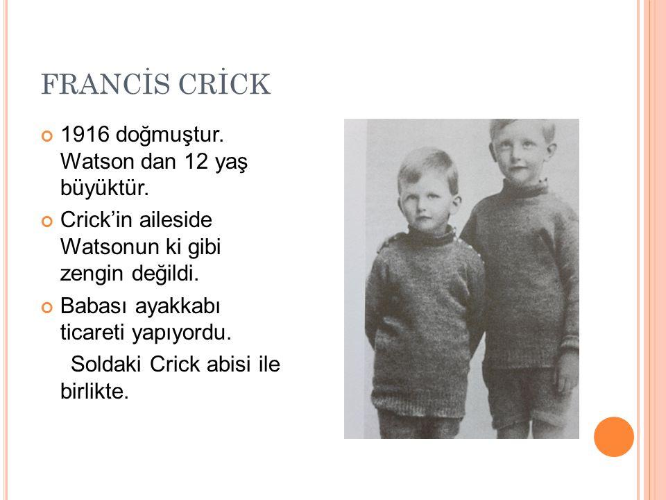 Crick ile Fransa doğumlu eşi Odile yaşadığı daire Cambridge de ki birkaç yüzyıllık bir evin çatı katıydı.
