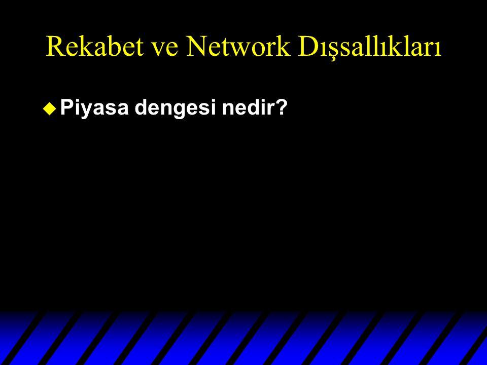 Rekabet ve Network Dışsallıkları u Piyasa dengesi nedir?