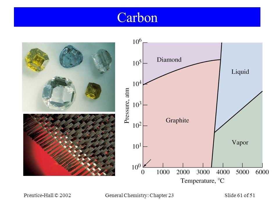 Prentice-Hall © 2002General Chemistry: Chapter 23Slide 61 of 51 Carbon