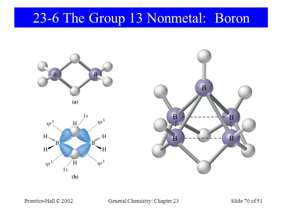 Prentice-Hall © 2002General Chemistry: Chapter 23Slide 71 of 51 Other Boron Compounds