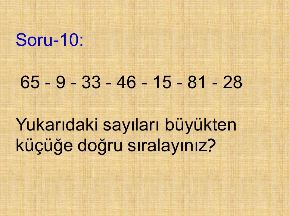 Soru-9: 37 sayısının basamak değerleri farkı kaçtır?