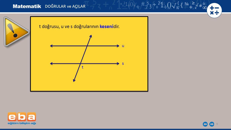 10 Paralel iki doğruya dik olan kesenler ortak dikme olarak adlandırılır.