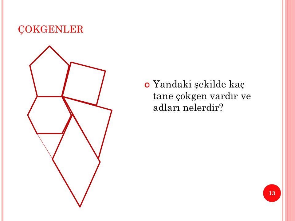 ÇOKGENLER 14 Kartonlardan yapılmış farklı çokgen çalışmaları….