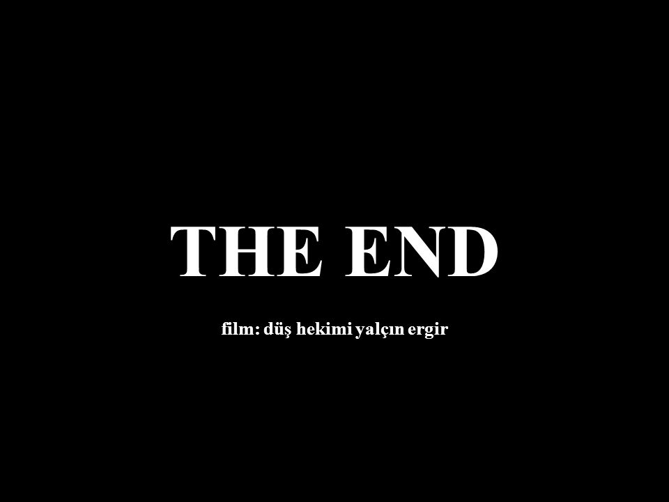 Derken fragman bitti. 'Pek yakında' değil, 'gelecek' değil; 'geçmiş film' sona erdi.