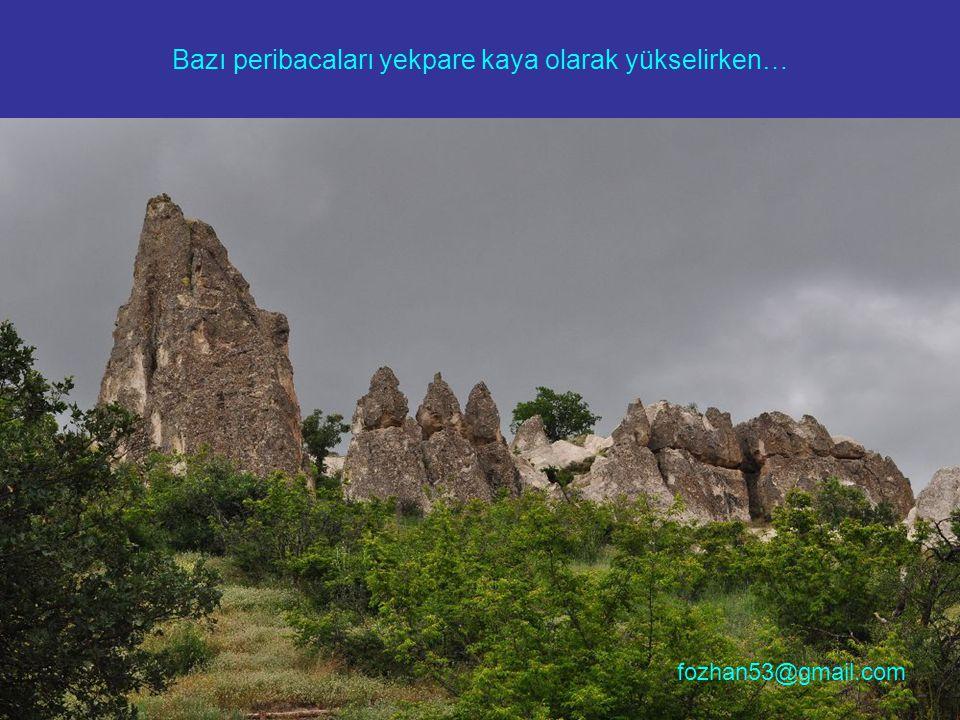 Bazı peribacaları yekpare kaya olarak yükselirken… fozhan53@gmail.com