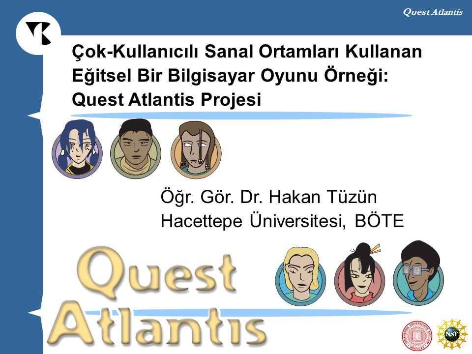 Quest Atlantis Atlantis yaklaşan bir tehlike ile karşı karşıya Bu tehlike kaybolan değerlerin ve yozlaşan liderlerin eseri Yaşlılar konseyi yardım bulmak amacı ile bir geçiş kapısı açar Dünya çocukları bu geçiş kapısını kullanarak Atlantis insanlarına yardım ederler Bu geçiş kapısına erişim için dünya çapında merkezler açıldı Dünya çocukları Atlantis'i kurtararak kendilerinin de başına gelebilecek bu tehlikeyi önlemeye çalışırlar Quest Atlantis Efsanesi (Hikayesi)