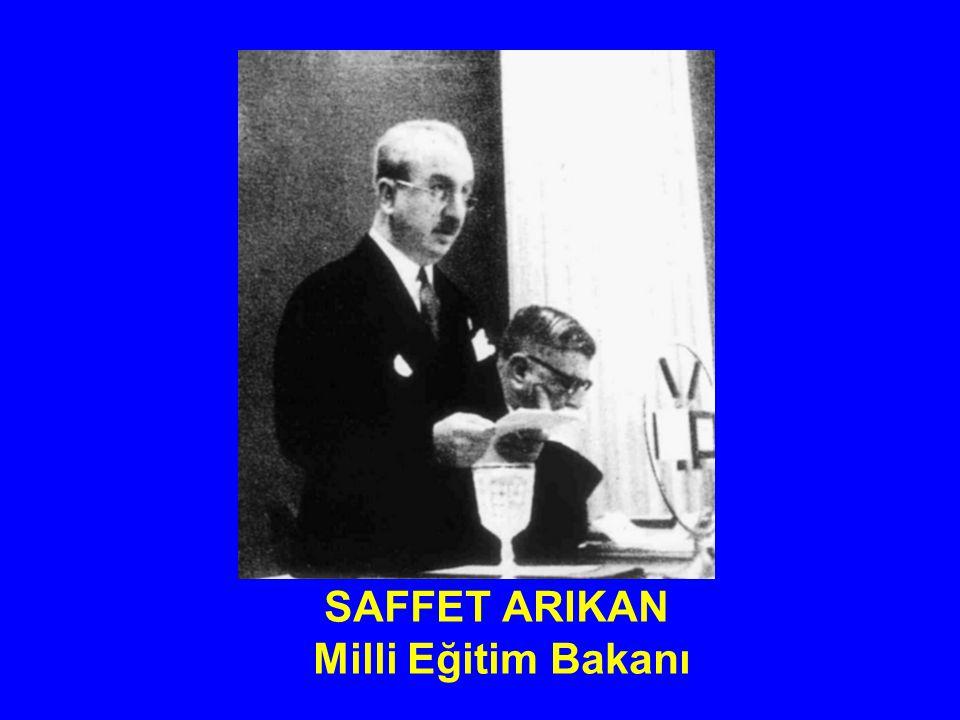 SAFFET ARIKAN Milli Eğitim Bakanı