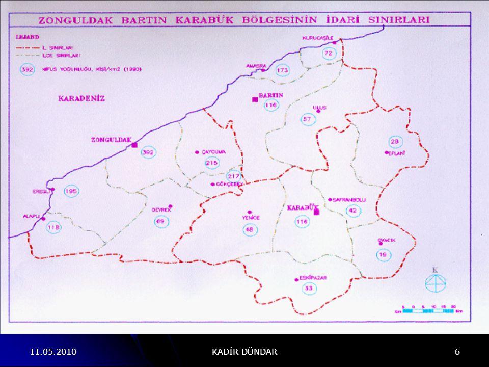 11.05.2010 KADİR DÜNDAR 37 Projenin coğrafi alanı, Yeşilırmak Havzası sınırları içinde bulunan 4 ilin (Amasya, Çorum, Samsun ve Tokat) bulunduğu, yaklaşık 40.000 km² lik ve 450 km.