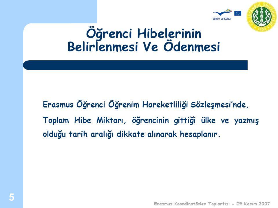 Teşekkür Ederim Erasmus Koordinatörler Toplantısı - 29 Kasım 2007